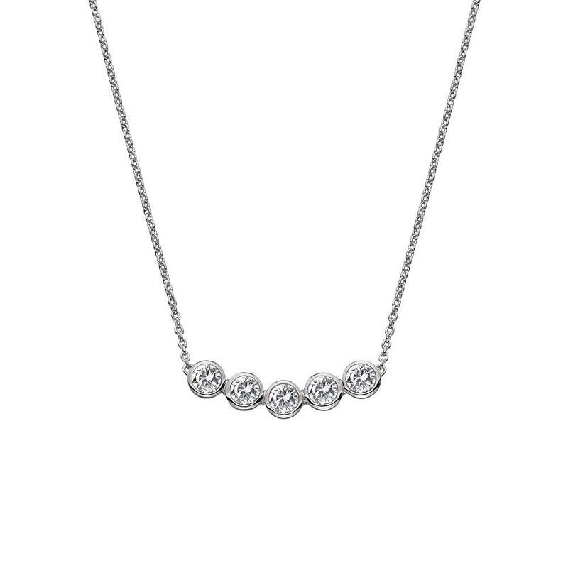 Hot Diamonds Tender White Topaz Silver Necklace DN129 - Hollins and Hollinshead