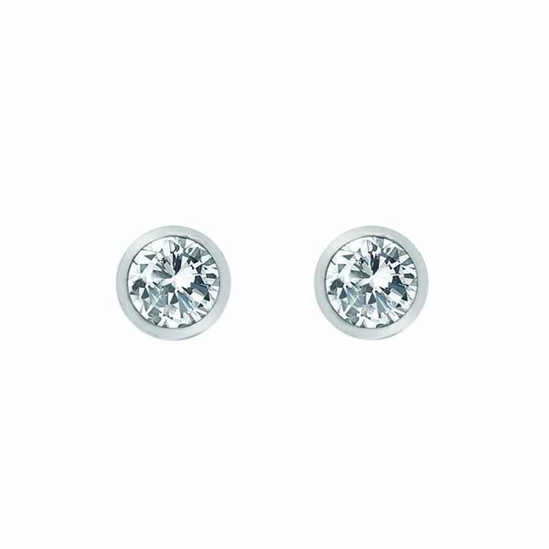 Hot Diamonds Tender White Topaz Silver Stud Earrings DE584 - Hollins and Hollinshead