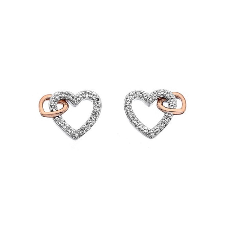 Hot Diamonds Togetherness Open Heart  Stud Earrings DE606 - Hollins and Hollinshead