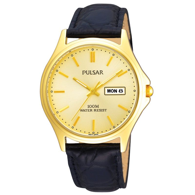 Pulsar Day Date Mens Watch PXF296X1 - Hollins and Hollinshead