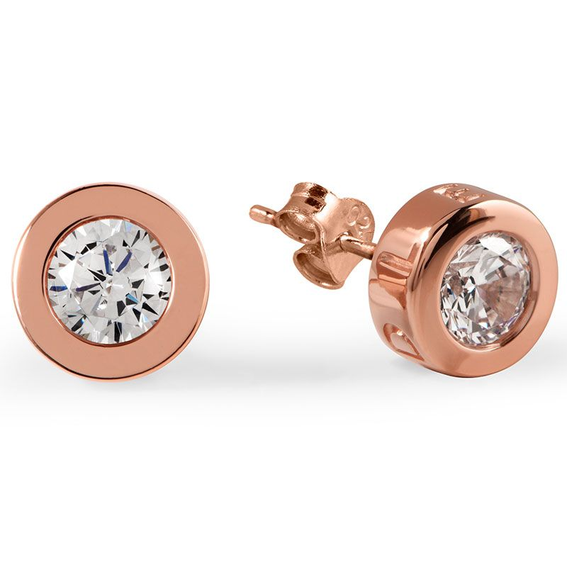 Radley Fountain Road Rose Gold Plated Ladies Stud Earrings RYJ1000 - Hollins and Hollinshead