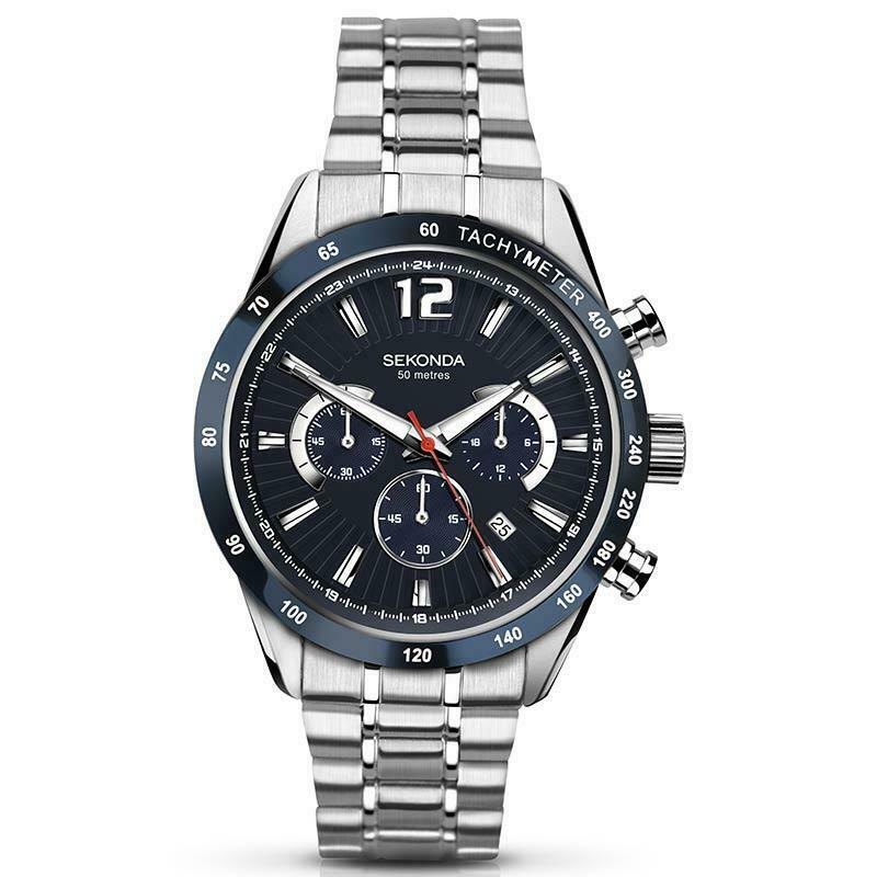 Sekonda Mens Chronograph Steel Watch 1226 - Hollins and Hollinshead