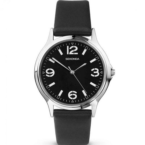 Sekonda Mens Leather Strap Watch 3285 - Hollins and Hollinshead