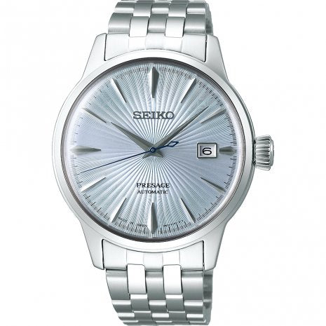 Seiko Presage Cocktail Blue Automatic Date Men's Watch SRPE19J1 - Hollins and Hollinshead