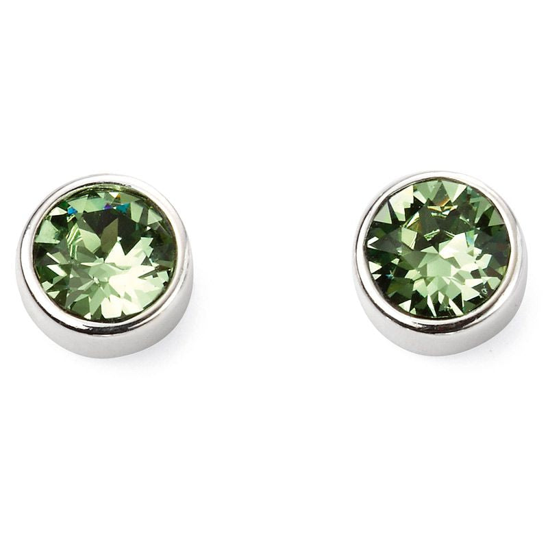 Sterling Silver August Birthstone Stud Earrings E5564 - Hollins and Hollinshead