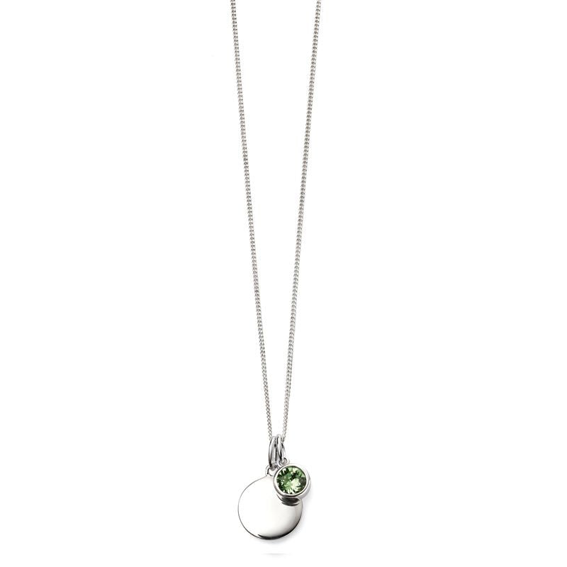 Sterling Silver August Birthstone Necklace P4597 - Hollins and Hollinshead