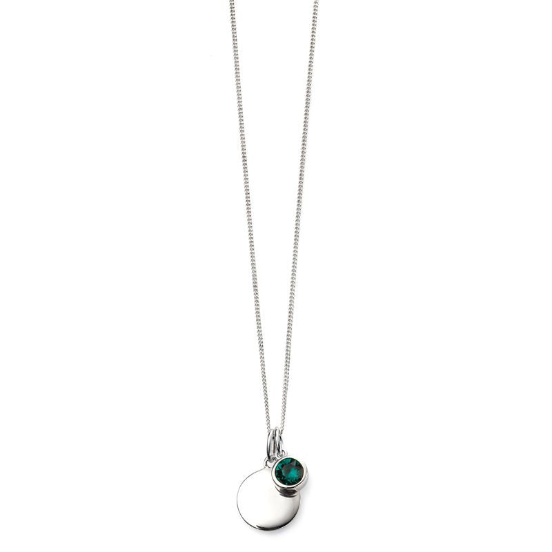 Sterling Silver May Birthstone Necklace P4594 - Hollins and Hollinshead