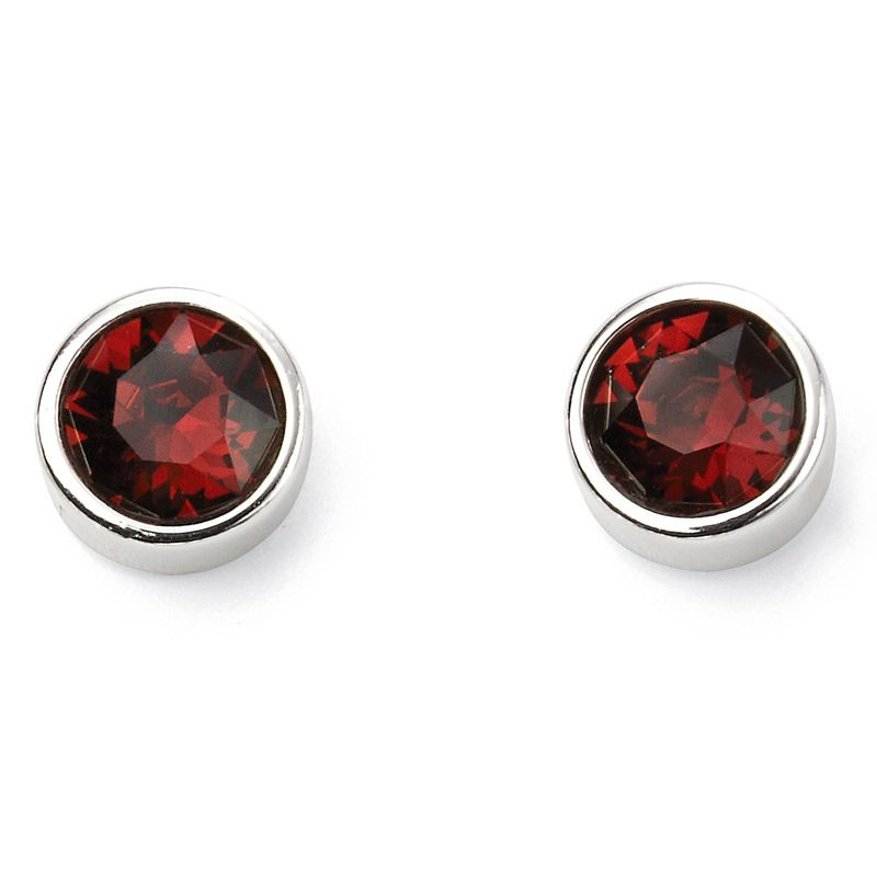 Sterling Silver January Birthstone Stud Earrings E5562 - Hollins and Hollinshead