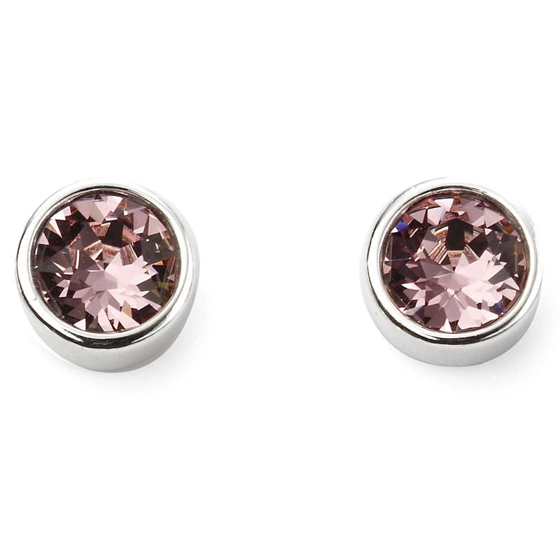 Sterling Silver June Birthstone Stud Earrings E5563 - Hollins and Hollinshead