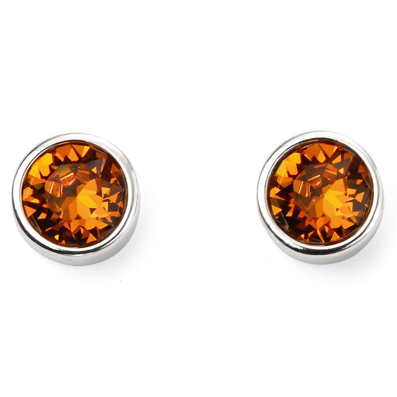 Sterling Silver November Birthstone Stud Earrings E5568 - Hollins and Hollinshead