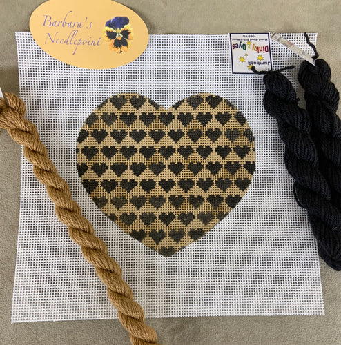 Ann's Camel and Black Hearts HEART kit