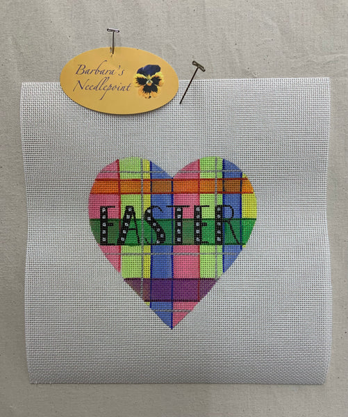EASTER Plaid Heart