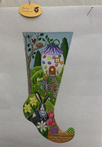 Easter Stocking #1 with Jelly Bean House