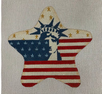 Statue of Liberty with Stars and Stripes July Star