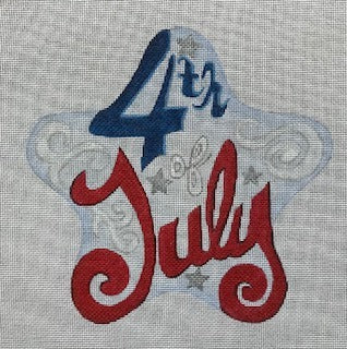 """4th of July"" with Script Flourish July Star"