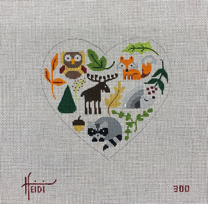 Woodlands Animals Heart #300
