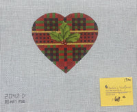 Plaid Holly Heart