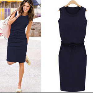 2020 summer ladies slim sleeveless sexy casual dress