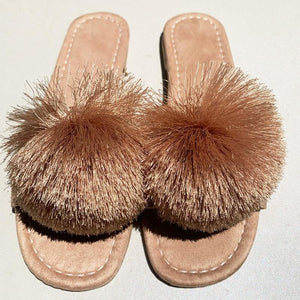 New summer furry sandals for summer 2020