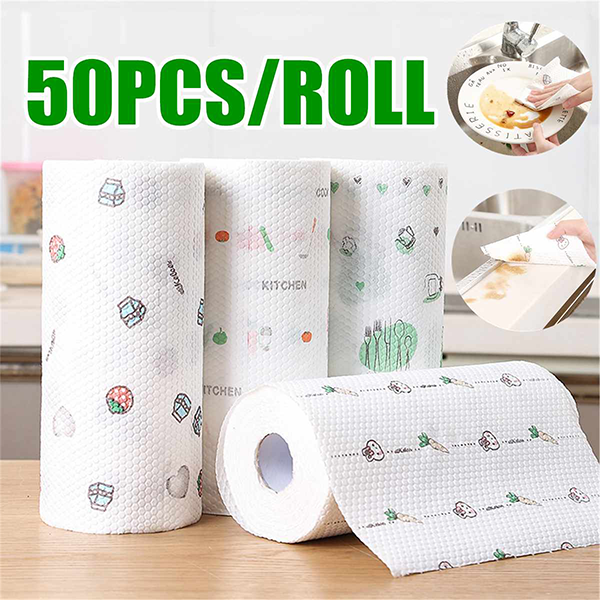 Non-stick printing kitchen non-woven cloth wet and dry rag