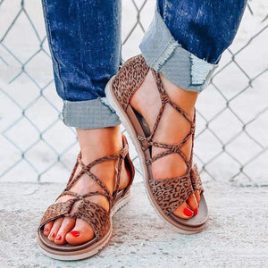 New leopard print non-slip flat sandals for 2020