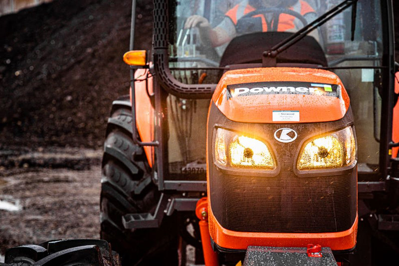 Kubota Tractor lights in rain
