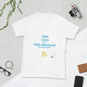 KEEP CALM FRONT I WHITE T-SHIRT