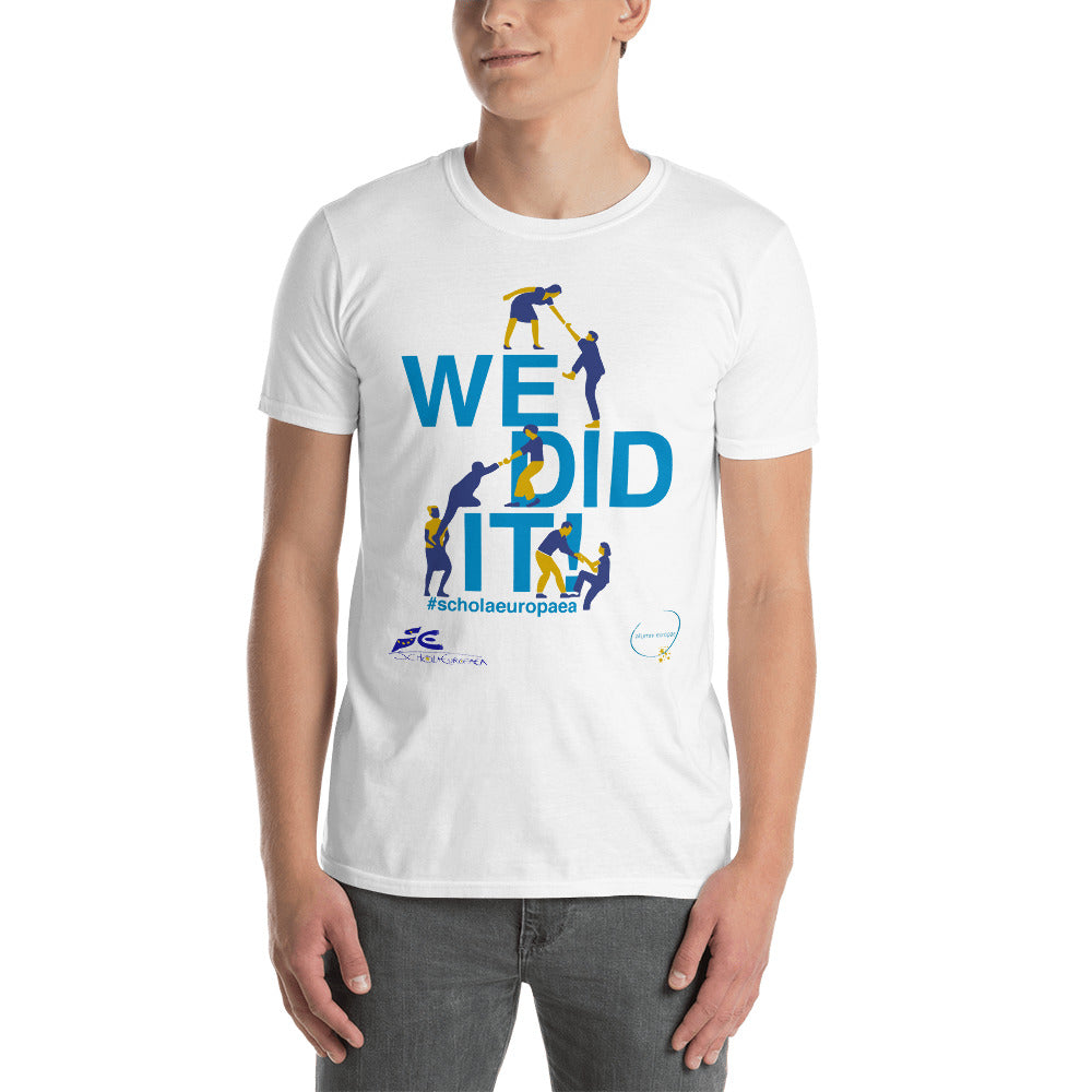 T-shirt We Did It - Illus I Logo Alumni Europae & Logo Schola Europaea