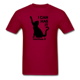 I CAN HAS LOGO TEE - dark red
