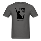I CAN HAS LOGO TEE - charcoal