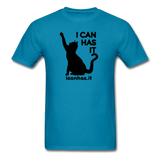 I CAN HAS LOGO TEE - turquoise