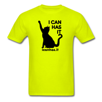 I CAN HAS LOGO TEE - safety green