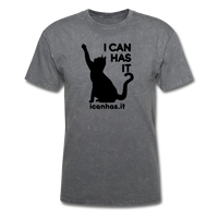 I CAN HAS LOGO TEE - mineral charcoal gray