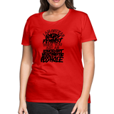 Angry Feminist Tee (ladies fit) - red