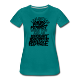 Angry Feminist Tee (ladies fit) - teal