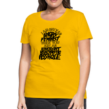 Angry Feminist Tee (ladies fit) - sun yellow