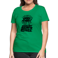 Angry Feminist Tee (ladies fit) - kelly green