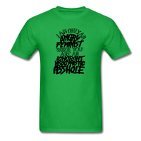 Angry Feminist Tee (men's fit) - bright green