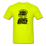Angry Feminist Tee (men's fit) - safety green