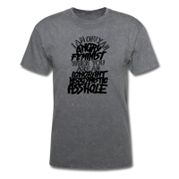 Angry Feminist Tee (men's fit) - mineral charcoal gray