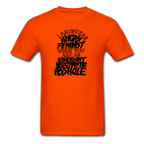 Angry Feminist Tee (men's fit) - orange