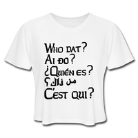 We are ALL Dat Tee (cropped light) - white