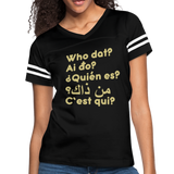 We are ALL dat Round (Women's Vintage Sport T-Shirt) - black/white
