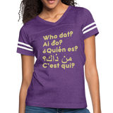 We are ALL dat Round (Women's Vintage Sport T-Shirt) - vintage purple/white