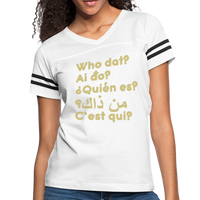 We are ALL dat Round (Women's Vintage Sport T-Shirt) - white/black