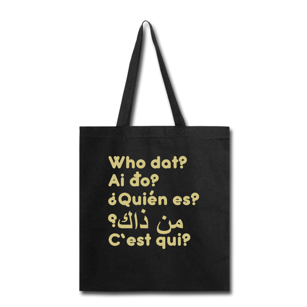 We are ALL dat Round (Tote Bag) - black