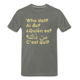 We are ALL dat Round (Men's Premium T-Shirt) - asphalt gray