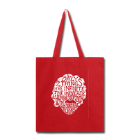 Einstein Quote (Tote Bag) - red