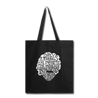 Einstein Quote (Tote Bag) - black