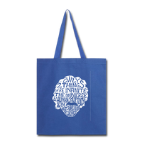 Einstein Quote (Tote Bag) - royal blue